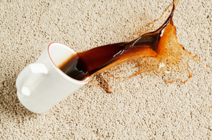 spilled coffee on carpet