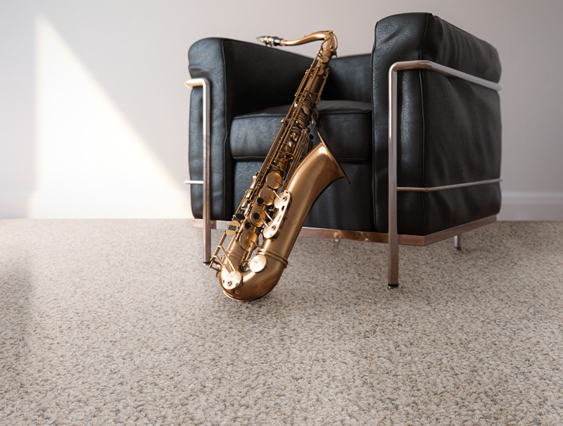 Jazz room - chair with sax
