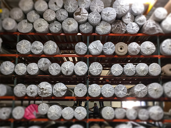 Rolls of specials in the warehouse